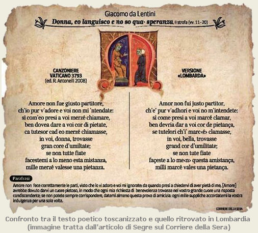 testo poetico Lentini