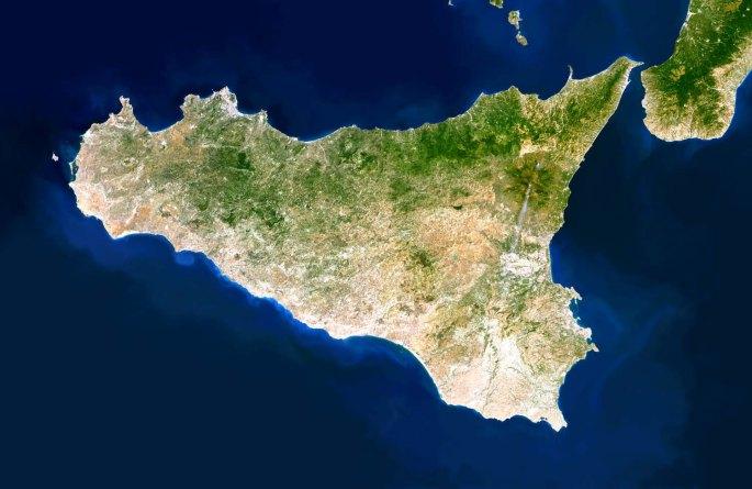 Sicilia dal satellite